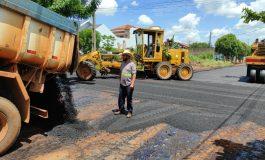 Iniciada mais uma obra de asfaltamento urbano em Marechal Rondon