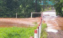 Vídeos mostram alagamentos em Porto Mendes, Vila Curvado e outros pontos no interior de Marechal Rondon