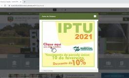 IPTU 2021 com 10% de desconto pode ser pago até a próxima quarta-feira em Marechal Rondon