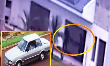 Ladrões são flagrados por câmera de vídeo furtando máquina e ferramentas em obra de Nova Santa Rosa