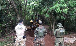 Forças policiais realizam segunda operação de destruição de portos clandestinos na região lindeira