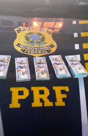 PRF prende duas pessoas com US$ 49.900,00 em veículo na BR-376 na RMC