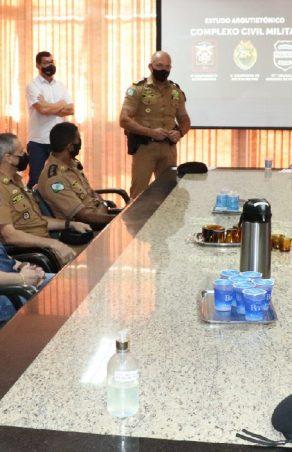Projeto do Complexo de Segurança Pública de Marechal Rondon é apresentado ao comandante-geral da Polícia Militar do Paraná